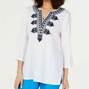 Charter Club XXL White Embroidered Top NWT S14